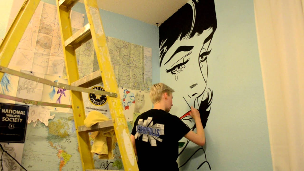 Pop Art Mural - YouTube