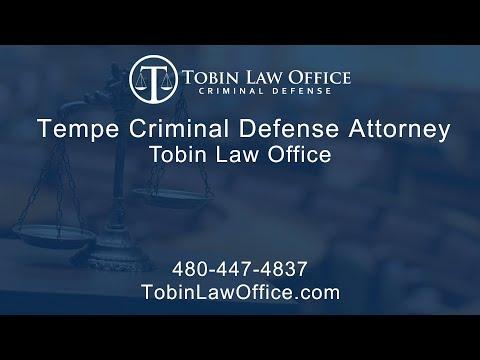 Tempe Criminal Defense Attorney | Tobin Law Office