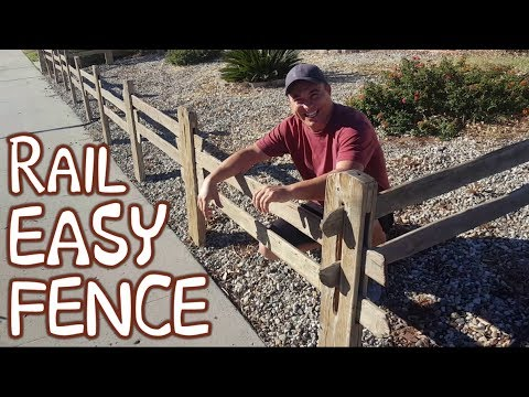 Halloween Decoration Idea | Fence For Pumpkin Patch | Ranch Style/Split Rail Board Fence (DIY)