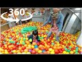 360 Video Indoor Playground Family Fun for Kids Play Playroom Pool Balls | The Childhood Life 1