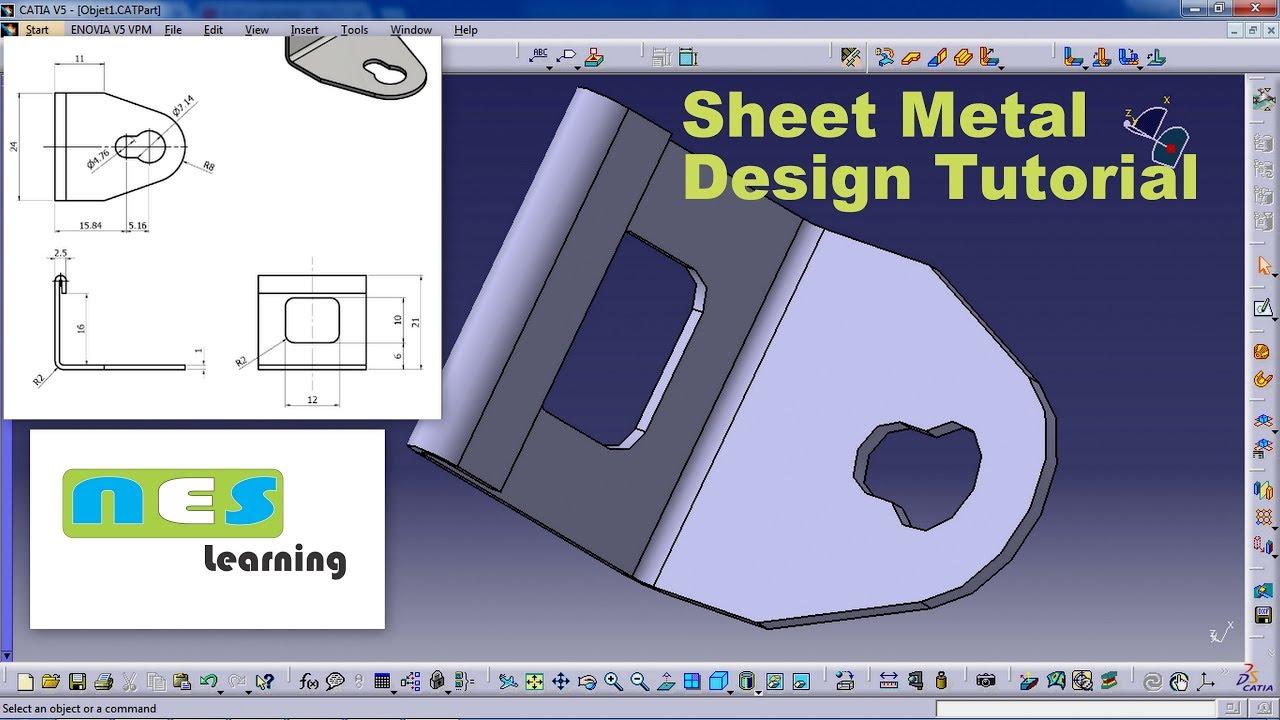 catia v5 v6 tutorial sheet metal design tutorial youtube rh youtube com