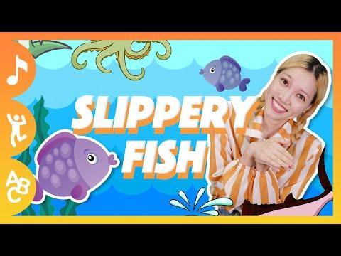 [꿀잼 영어동요] Slippery Fish (Dance Ver. M/V)ㅣ리지의 스토리타임ㅣ자막ㅣ인기 영어동요ㅣ어린이 영어동요