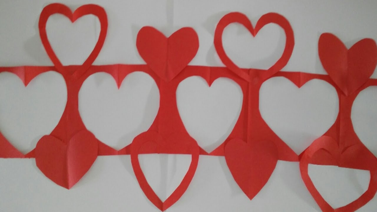 Guirnaldas de corazones adornos para colgar tutorial diy for Decoracion para pared san valentin