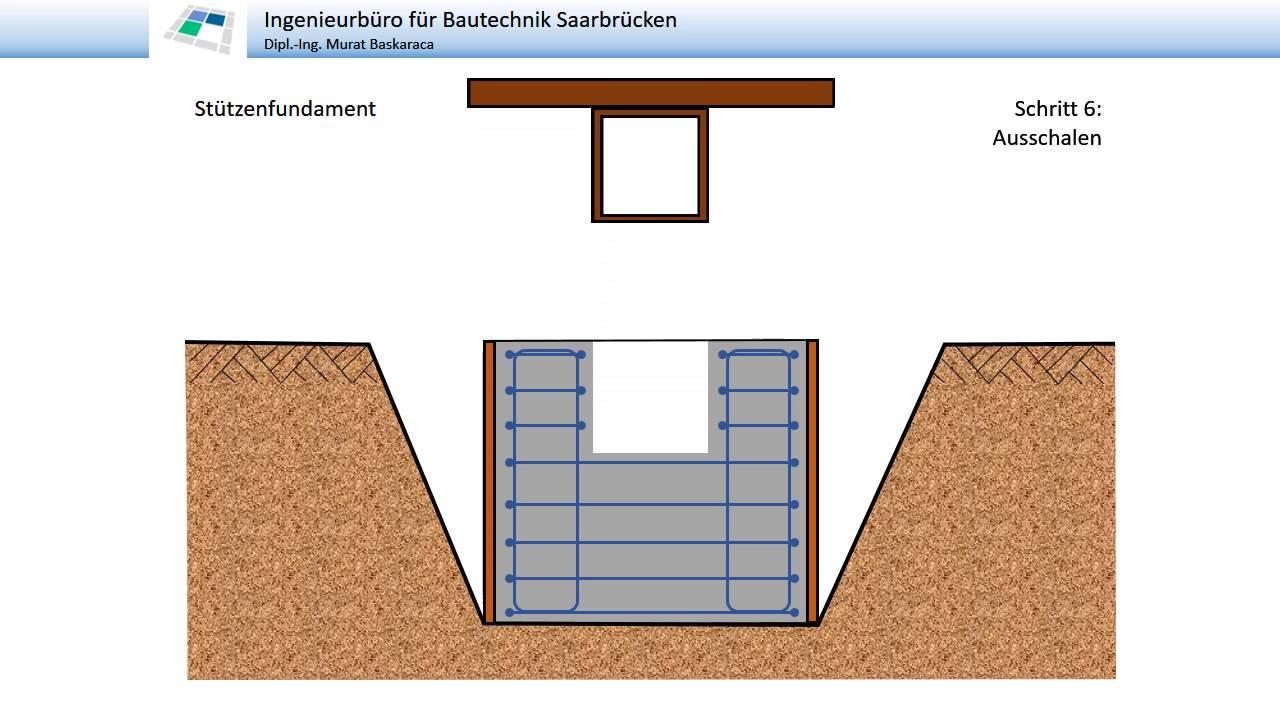 fundament f r stahlst tze youtube. Black Bedroom Furniture Sets. Home Design Ideas