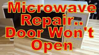 microwave repair door stuck