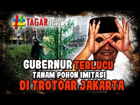 Gubernur Bdh menanam pohon Imitasi di Trotoar Jakarta