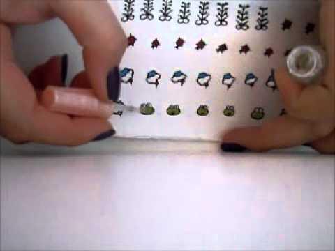 Adesivos pra unhas com caixa de leite - YouTube