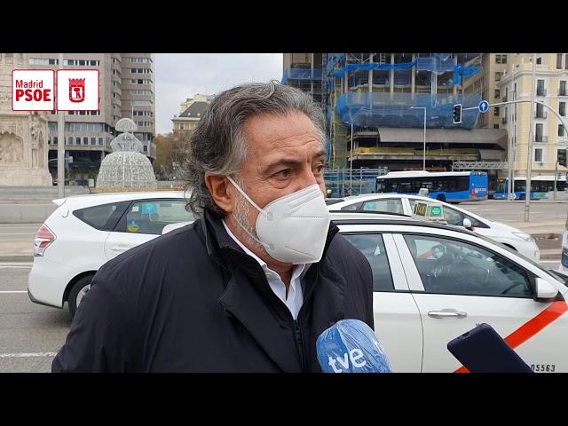 """Pepu Hernández: """"Los taxistas se sienten abandonados por el Gobierno municipal"""""""