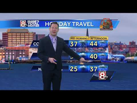 Rain impacting the busy travel day throughout New England