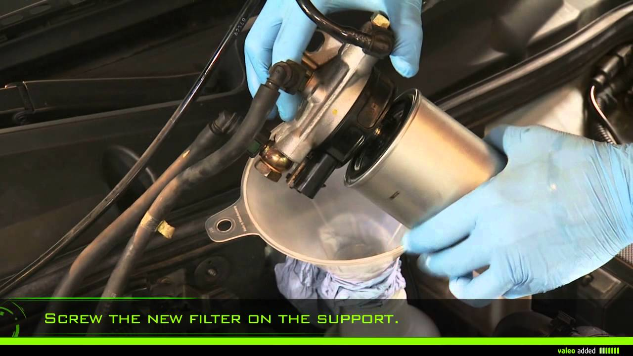 valeo fuel filter fitment of spin on fuel filter youtube. Black Bedroom Furniture Sets. Home Design Ideas