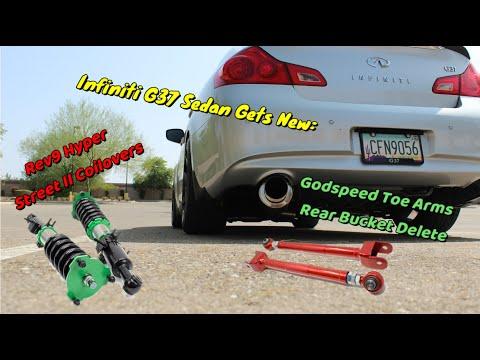 Infiniti G37 Sedan – How to Install Rev9 Hyper Street 2 Coilovers & Godspeed Rear Toe Bucket Delete