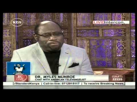 Jeff Koinange Live with Dr. Myles Monroe, American Televangelist ( Part 3 )