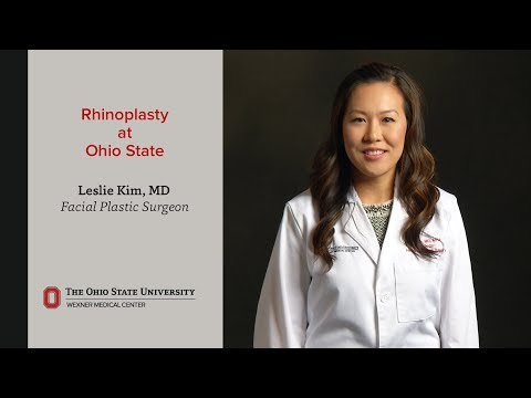 Rhinoplasty at Ohio State for cosmetic reasons or to improve breathing