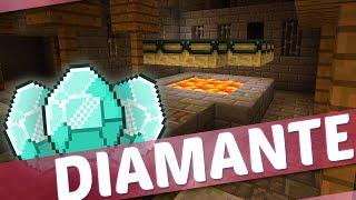Minecraft PE SURVIVAL #3 MINA ABANDONADA E MUITO DIAMANTE!!