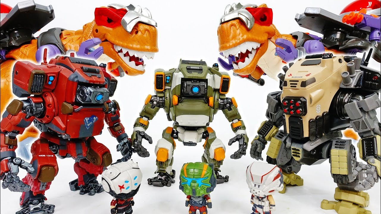 We Are Under Attack By Dino King~! Ride On The Robot  - ToyMart TV