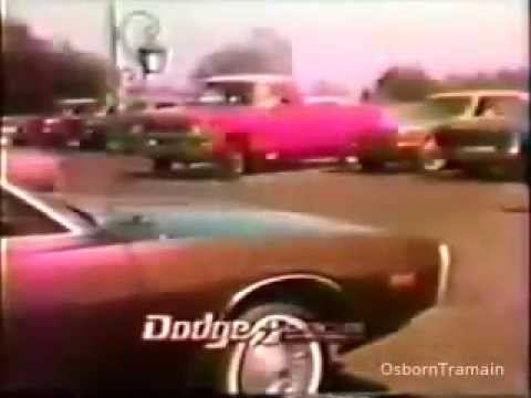 1975 Dodge Club Cab Pickup with George Blanda and other New Dodge Cars