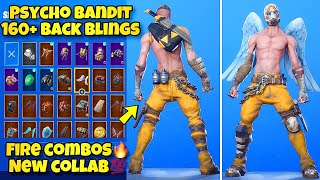 "NEW ""PSYCHO BANDIT"" SKIN Showcased With 160+ BACK BLINGS! Fortnite BR (BEST PSYCHO BANDIT COMBOS)"