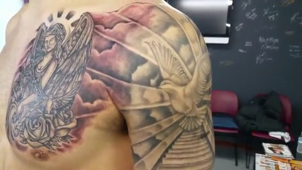 Stairway to heaven tattoo pt3 youtube for Stairway to heaven tattoo chest