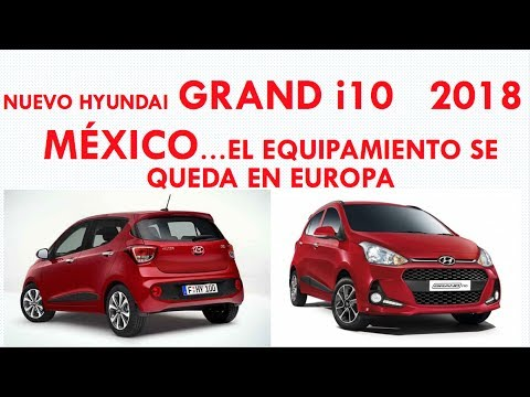 hyundai gran i10 hatchback 2018 m xico el equipamiento. Black Bedroom Furniture Sets. Home Design Ideas