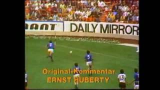 Fussball WM 1970 Deutschland - Italien (Original Ernst Huberty)