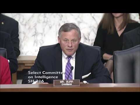 Intelligence Committee: Chairman Burr's opening remarks