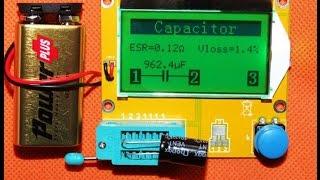 ESR  medidor  y multi componentes, ESR Meter 12864 LCD