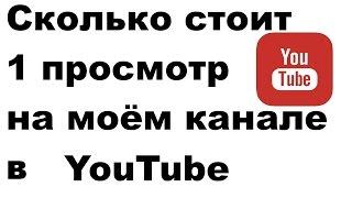 Сколько стоит 1 просмотр на моём канале в youtube