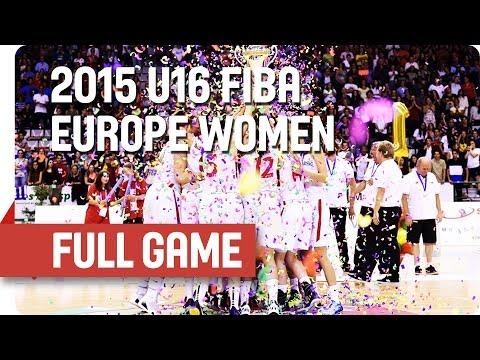 Czech Republic v Portugal - Final - Full Game - 2015 U16 European Championship Women