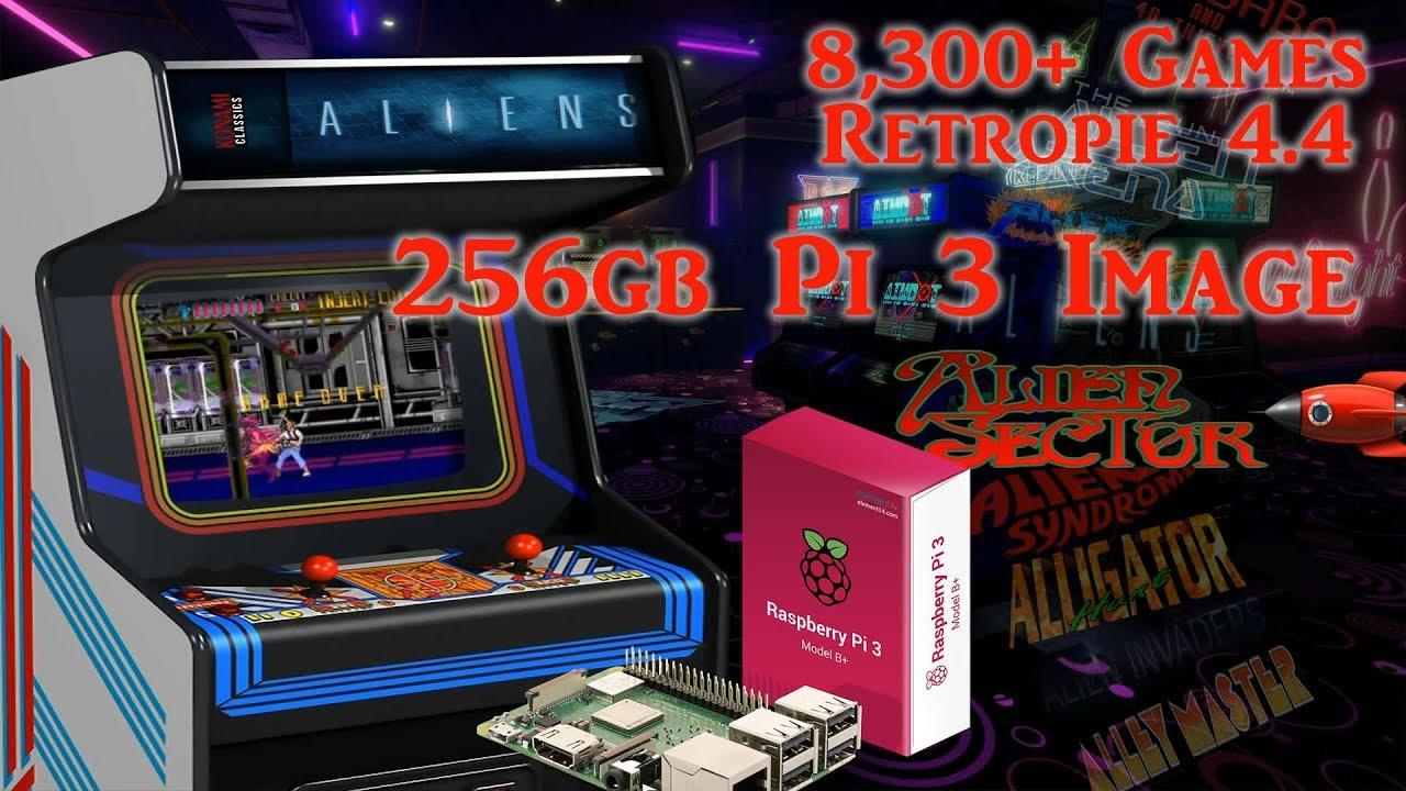 256gb Pi 3 B and B+ Ultimate Image Vman V 2 - 8,300+ Games PSX Dreamcast  N64 SNES
