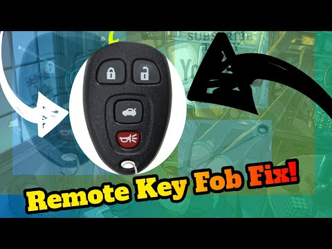 Remote Key Fob Fix for later model GM Cars! Do it yourself save
