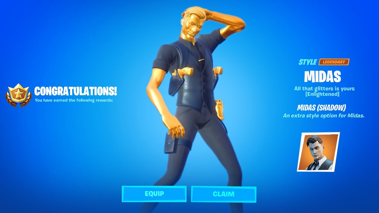 How To Get Shadow Or Ghost Midas Complete 18 Midas Challenges Fortnite Youtube