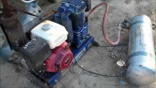 how it works petrol compressor unloader throttle down