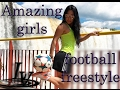 MOST AMAZING VIDEO!!!/Girls football freestyle/Best skills and tricks ever(Raquel,Indie,Melody,Lisa)
