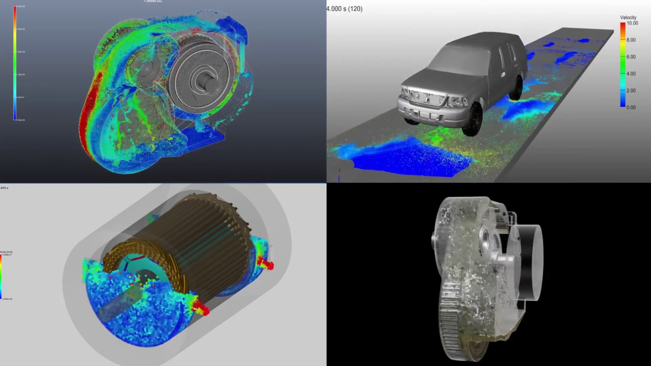 Particle-based simulation software for CAE