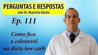 Como fica o colesterol na low carb - Perguntas e respostas com Dr Mauricio Garcia ep 111