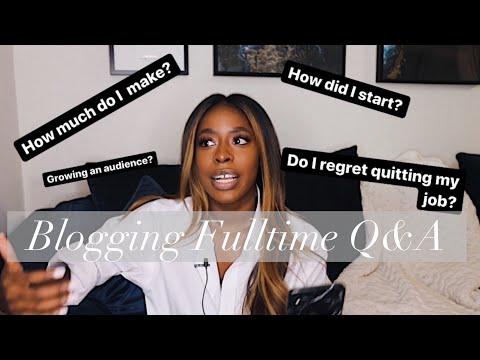 BLOGGING Q&A | 6 MONTHS FULL-TIME | HIGHLOWLUXXE