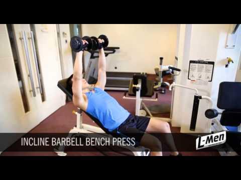 Gerakan Latihan Otot Dada Atas- Incline Barbell Bench Press