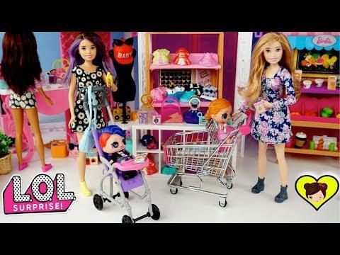 Barbie Skipper es Niñera de las Bebes L.O.L Surprise Confetti pop