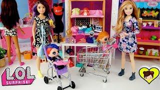 Barbie Skipper es Niera de las Bebes LOL Surprise Confetti pop