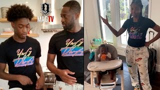 Dwyane Wade & Gabrielle Union Attempt To Make Homemade Pizza! 🍕