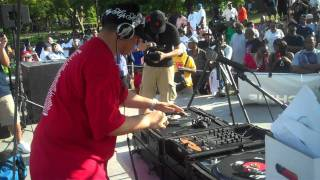 Kid Capri spinning 45