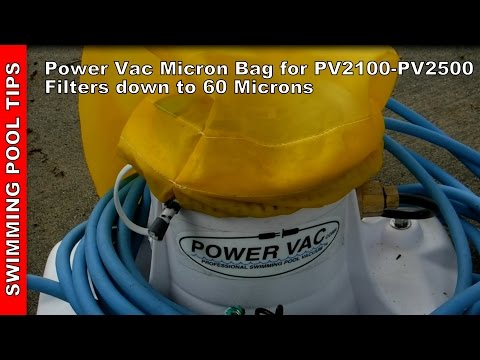 "Power Vac 26"" Micron Bag For PV2100 - PV2500: Fine Debris down to 60 Microns"