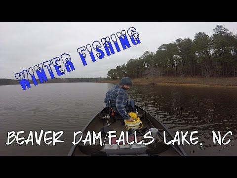 Winter Fishing Falls Lake/Beaver Dam, NC