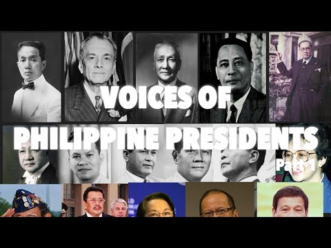 Voices of Philippine Presidents (Part 1)