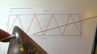 Follow steps to build a balsa wood bridge truss. You will need two trusses to build the bridge. (NO SOUND) ENRICHMENT FALL