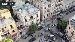 Drone footage shows extent of destruction after Beirut blasts