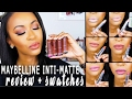 NEW!! Maybelline Inti-Matte Nudes Review + Swatches | OPEN GIVEAWAY!! ♡ Fayy Lenee Beauty