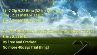 Free Download Compression Tools Winrar Black 86X & 7-Zip