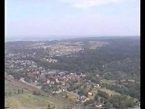 Panorama z komina zamkniętej fryki WISKORD w Szczecinie