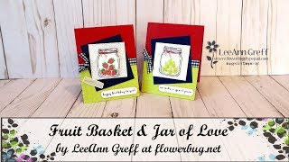 Fruit Basket Jar of Love card